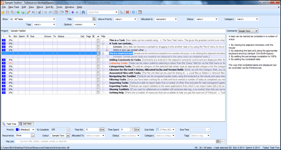 ToDoList May Be Best Workstation-Style Task Organizer