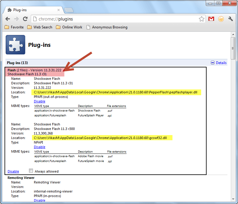 Problems with Google Chrome and Shockwave Flash