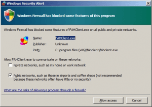 Folding at Home Firewall Access