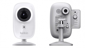 Front and back views of Belkin WeMo NetCam HD+ Wi-Fi Camera (Image Credit:  Belkin)