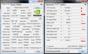 Screenshot of GPU-Z Temperature Monitoring Utility