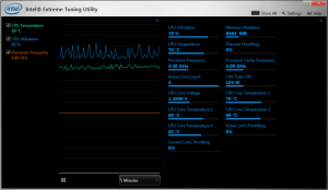 Screenshot of Intel XTU