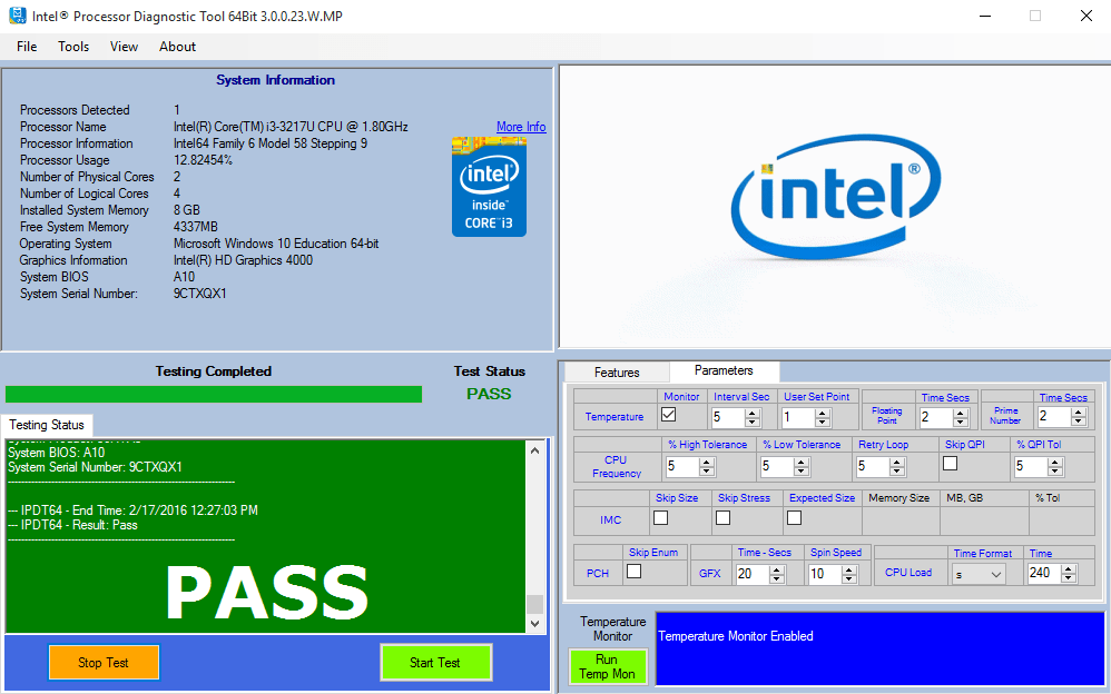 How To Use The Intel Processor Diagnostic Tool