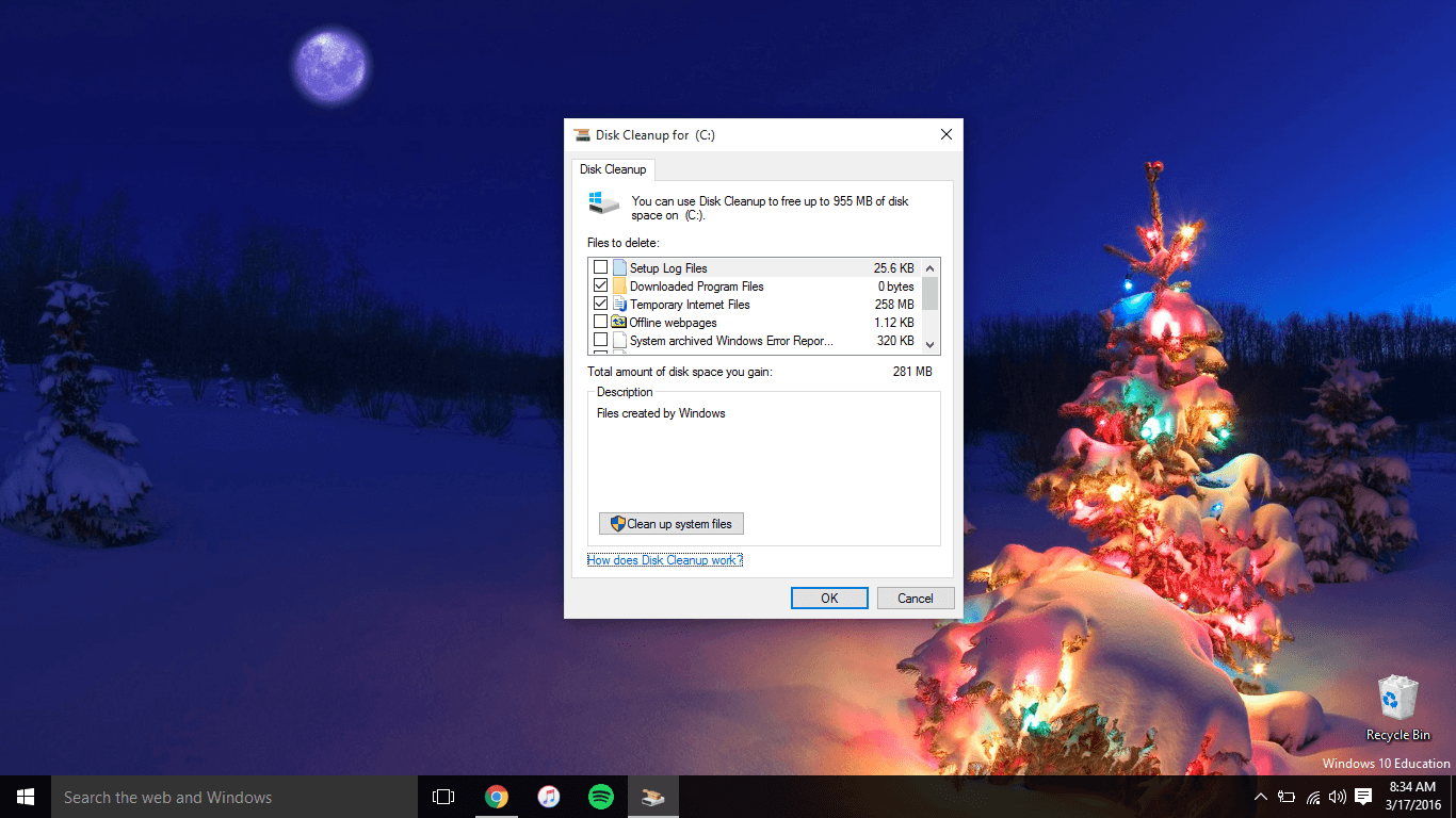 How To Use Windows 10's Built-In Disk Cleanup App