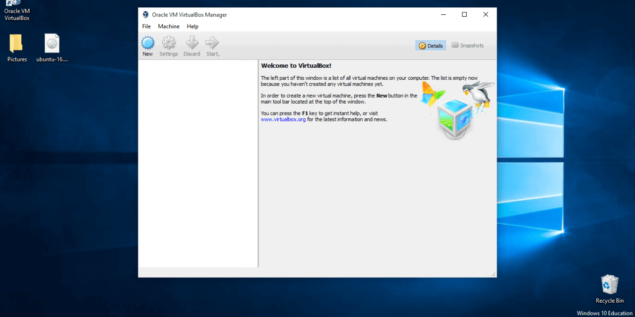 How To Setup a Linux Virtual Machine with VirtualBox