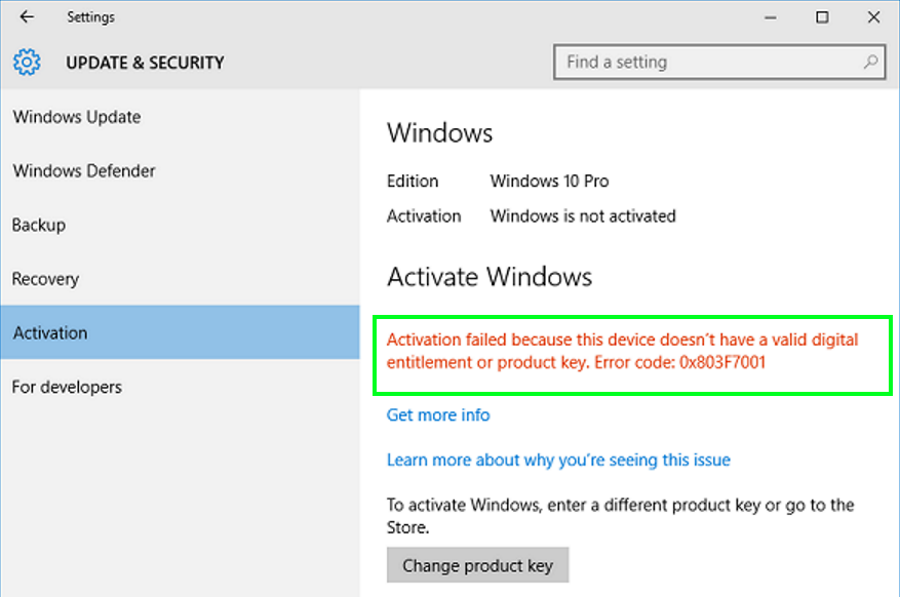 How to fix error 0x803f7001 in windows 10 pcmech error 0x803f7001 in windows 10 is an activation error it appears after you perform a clean install of the operating system or when you make a hardware ccuart Gallery