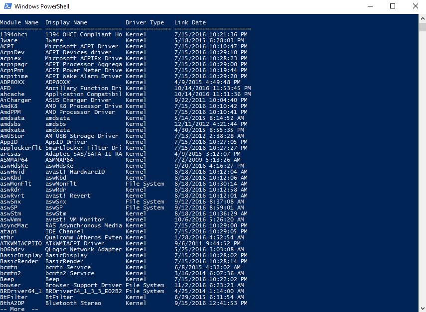 How to view Command Prompt or PowerShell results one page at a time