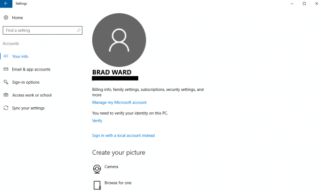 How to change your profile picture in Windows 10