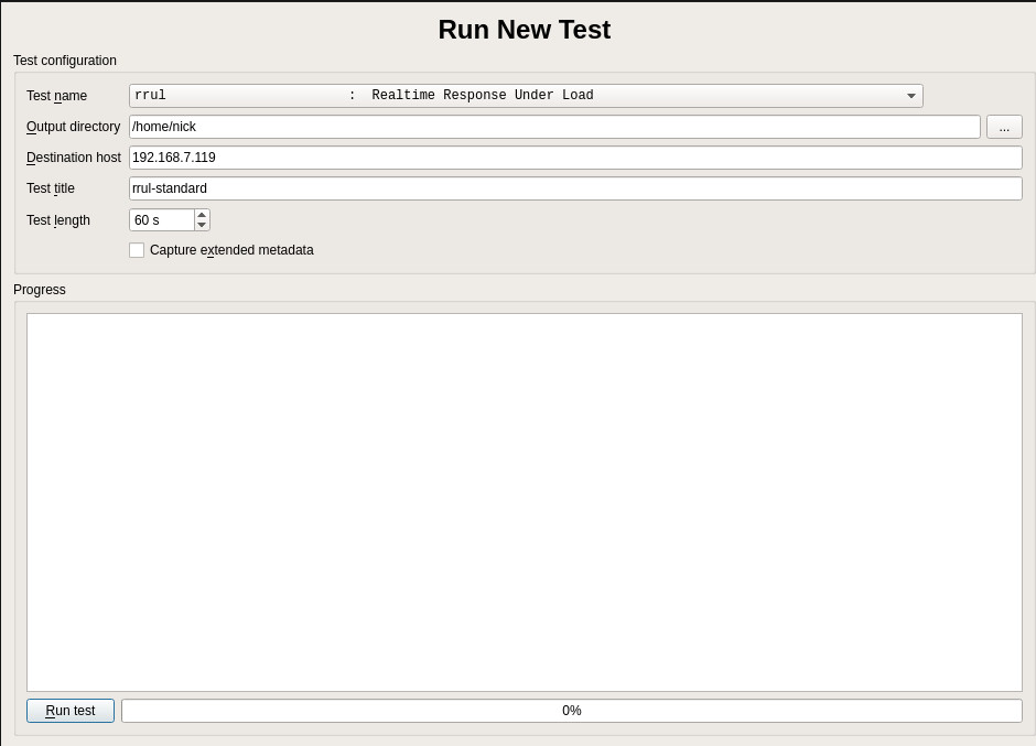 Run A Test Flent